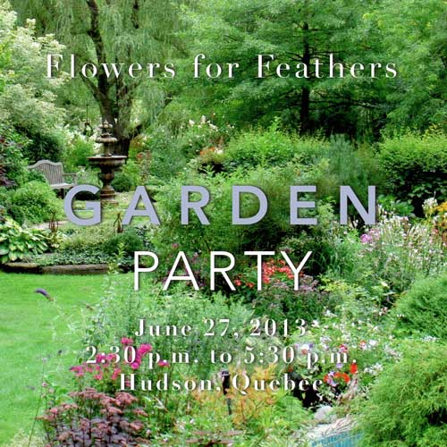 Flowers for Feathers Garden Party