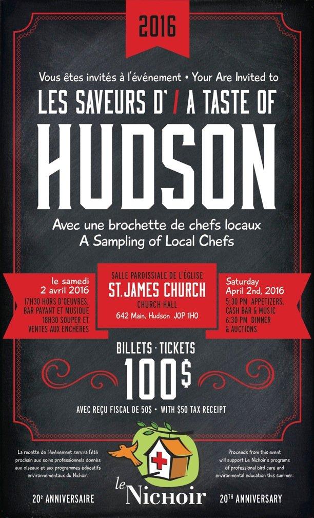 Les saveurs d'Hudson 2016
