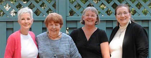 Janette Fauque, Denise Paquette, Lise Sylvestre et Lynn Miller