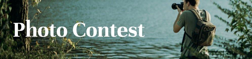 Picture of wildlife photographer with Photo Contest headline